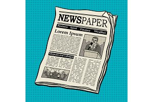 Newspaper pop art vector illustration