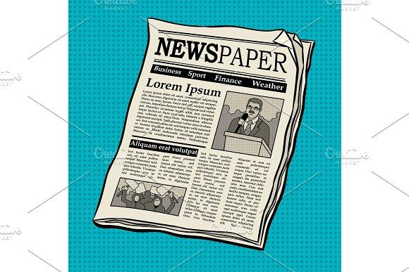 Newspaper pop art vector illustration