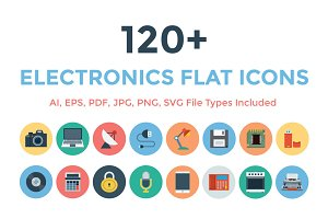 120+ Electronics Flat Icons