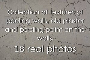 Textures of old plaster