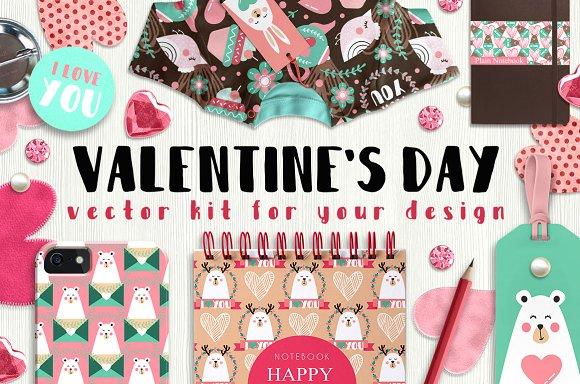 Valentine's day - vector kit