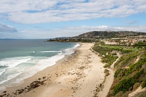 View of the coastline at Dana Point in California