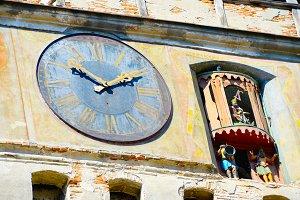 clock tower close-up . Sighisoara