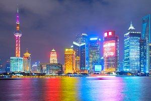 Skyline of Shanghai Downtown