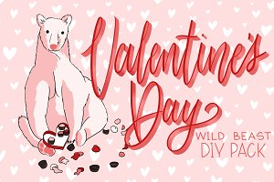 Valentines Day Wild Animals DIY Pack