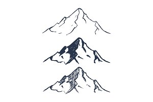 Hand Drawn Mountains Pack
