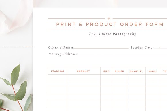 Print & Product Order Form ~ Flyer Templates ~ Creative Market