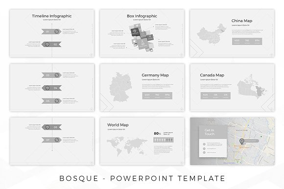 bosque creative template presentation templates creative market