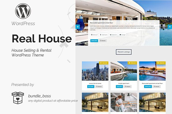 Real House Selling Rental Theme