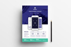 A4 Mobile App Poster Template v2