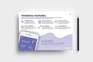 Mobile App Flyer Template v2