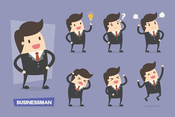 Vector Set of Businessman Characters