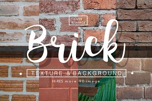 +90 Brick texture background