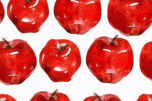 apples seamless pattern   JPEG