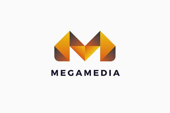 Mega Media M Letter Logo Template