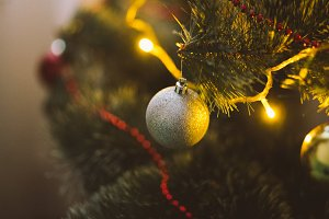 Christmas tree with christmas ball