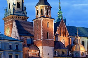 Wawel Cathedral At Night In Krakow