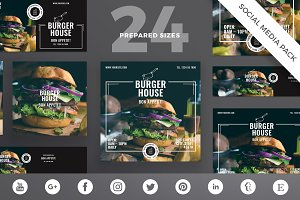 Social Media Pack | Burger House