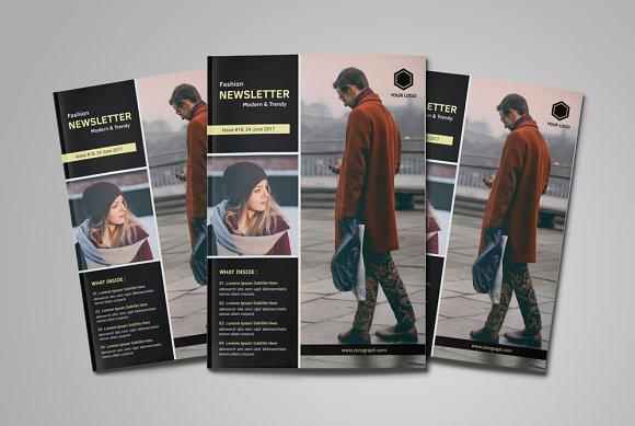 Modern Newsletter Template Magazine Templates Creative Market