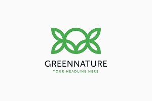 Green Nature Logo Template