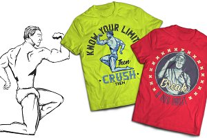Athletic T-shirts And Poster Labels