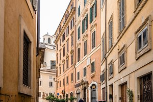 Picturesque street in Rome