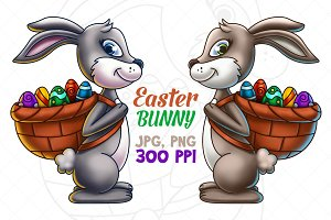 Easter Bunny Carrying Eggs