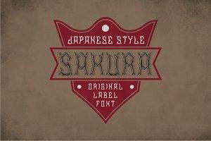 Sakura Vintage Label Typeface