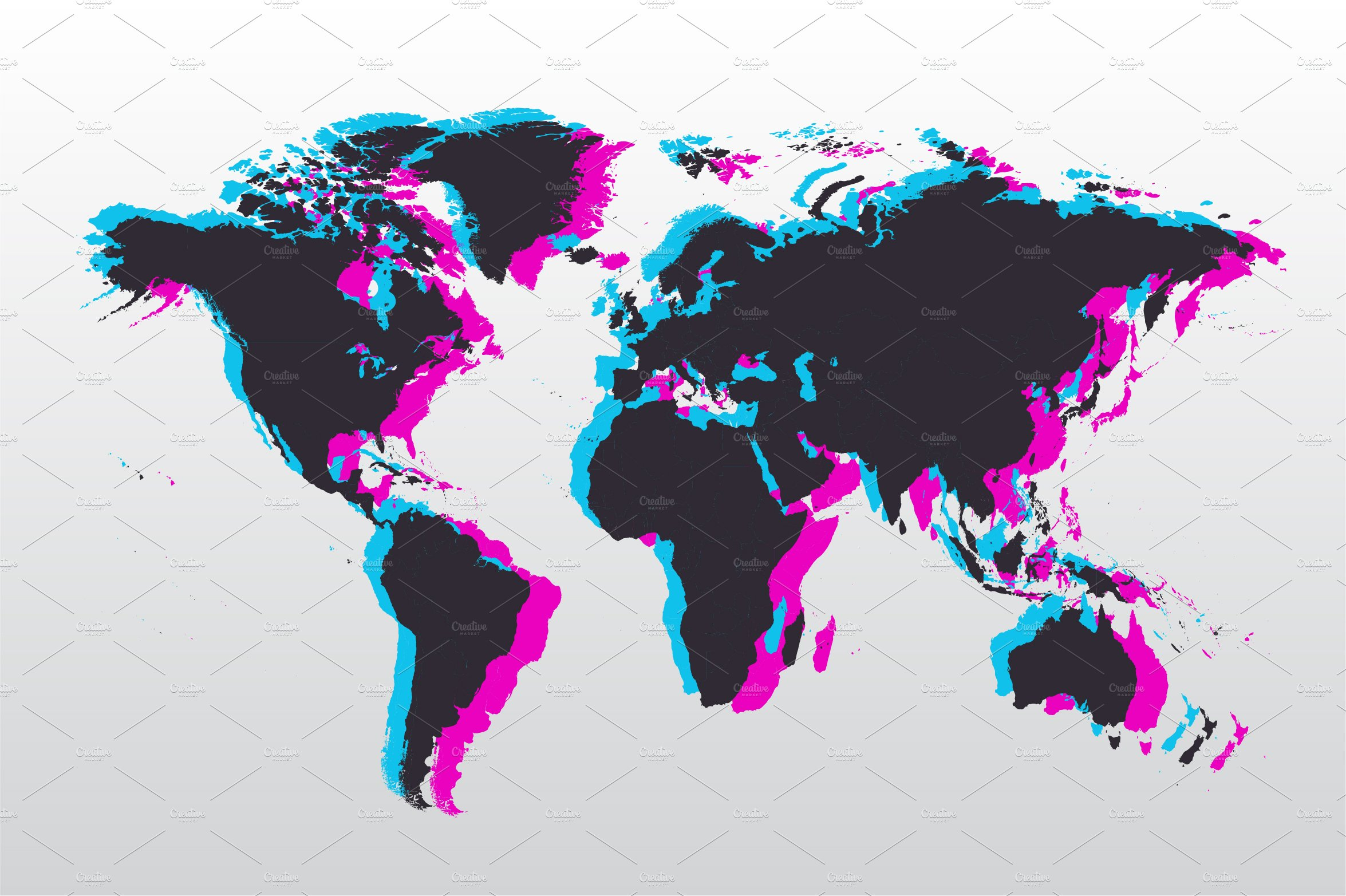 modern isolated png world map graphics creative market