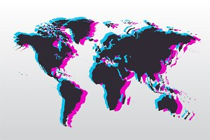 Modern Duo Shadow World map png