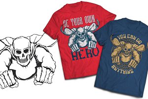 Hero T-shirts And Poster Labels