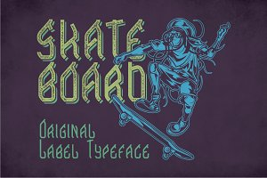 Skateboard Modern Label Typeface