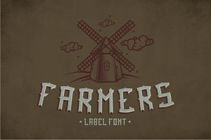 Farmers Vintage Label Typeface