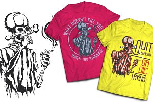 Smoking T-shirts And Poster Labels