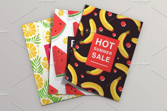 Set with poster on summer sale
