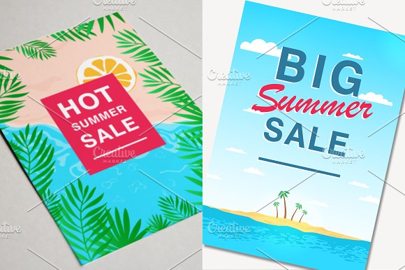 Set with poster on summer sale in Objects - product preview 3