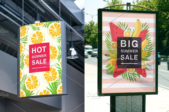 Set with poster on summer sale in Objects - product preview 4