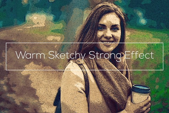 Warm Sketchy Strong Effect-Graphicriver中文最全的素材分享平台