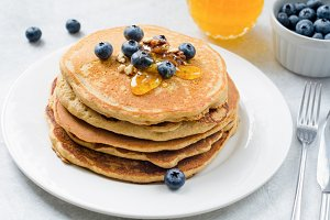 Stack of corn pancakes
