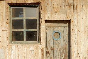 Old window worn