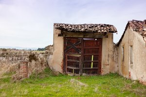 Old house deteriorated