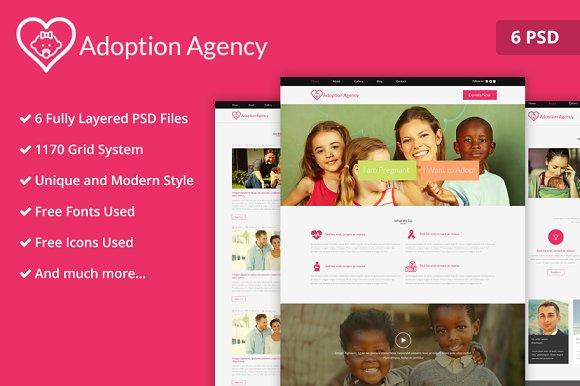 Adoption Agency PSD Website Template