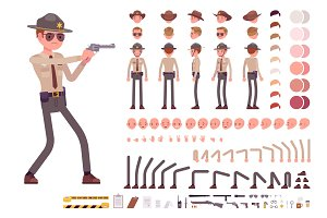 Sheriff character creation set