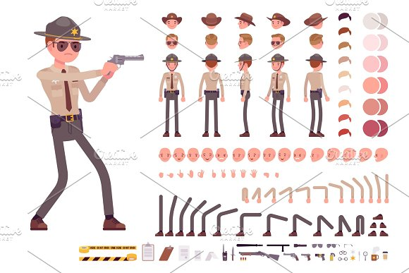 Sheriff character creation set