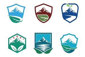 Fresh Nature Mountain Logo Symbol