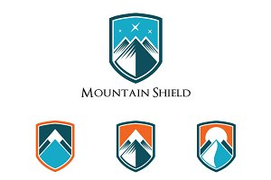Mountain Shield Abstract Logo Badge