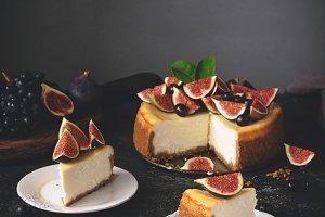 Sliced New York Cheesecake