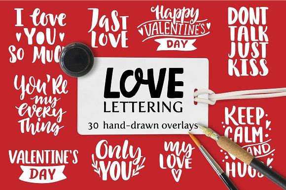 Love Overlays. Lettering