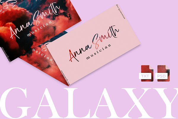 Business Card Templates: cadinera - GALAXY | Modern Business Card