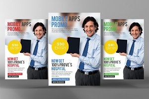 Apps Promotion Flyer Psd Template